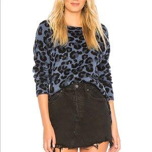 Central Park West- blue leopard sweater